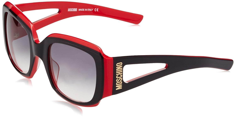 Moschino Eye Gafas de Sol, Negro (Nero/Rosso), 53 para Mujer