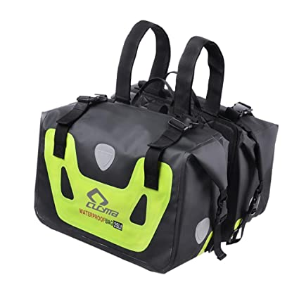 d9772a3cce1c Dolity Waterproof Motorcycles Saddle Bags Luggage Pannier Bag Edge Bag -  Green