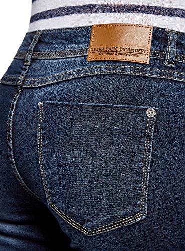 Bleu 7900w Ultra oodji Zips avec Femme Jean Skinny Yw07w