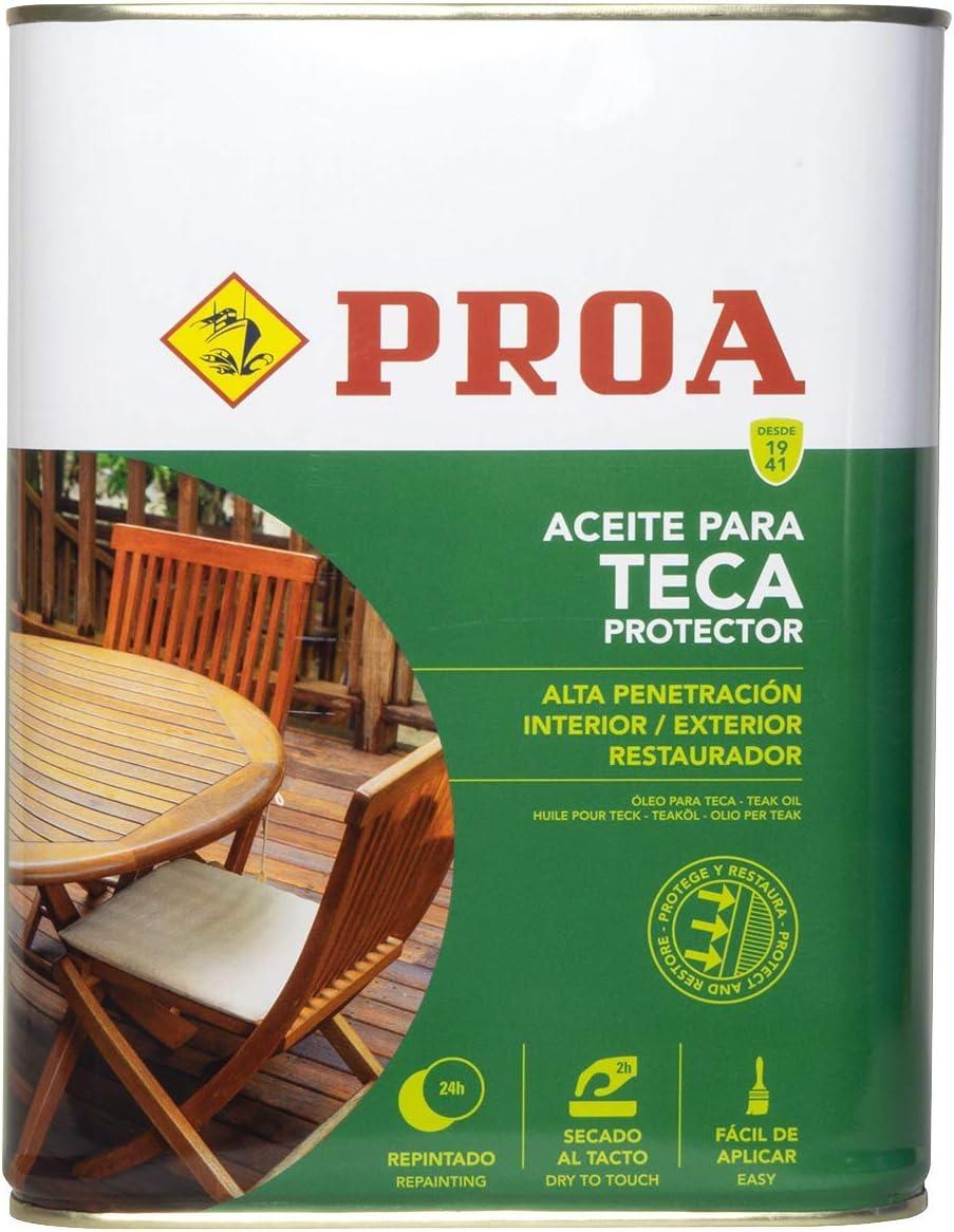 Proa. Aceite para Teca, Transparente, 4 L