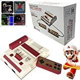 CoolBoy 8 Bit Cable Classic mini Family Computer,Family Video Game Console with AV of tv,Built 500-in-1 classic games,Two Game Controller(30th anniversary mini commemorative models)