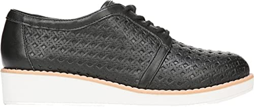 Fergalicious Women's Everly Woven Oxford,Black Synthetic Leather,US 5.5 M