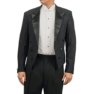 Broadway Tuxmakers Men's Black Tuxedo Jacket with Tails Tailcoat at Amazon Men's Clothing store
