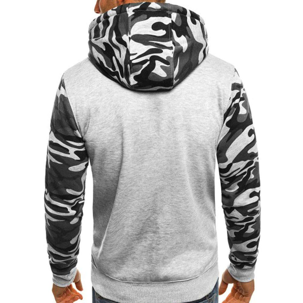 Rambling Fashion Mens Camouflage Plus Size Pullover Long Sleeve Hooded Sweatshirt Tops Blouse by Rambling-Men's hoodie (Image #2)