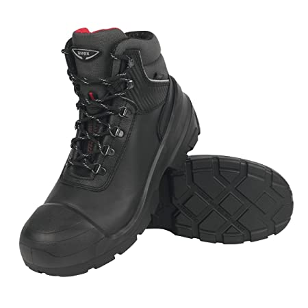 cdbc13cde65 Uvex Quatro Pro Safety Boots Black Size 8: Amazon.co.uk: DIY & Tools
