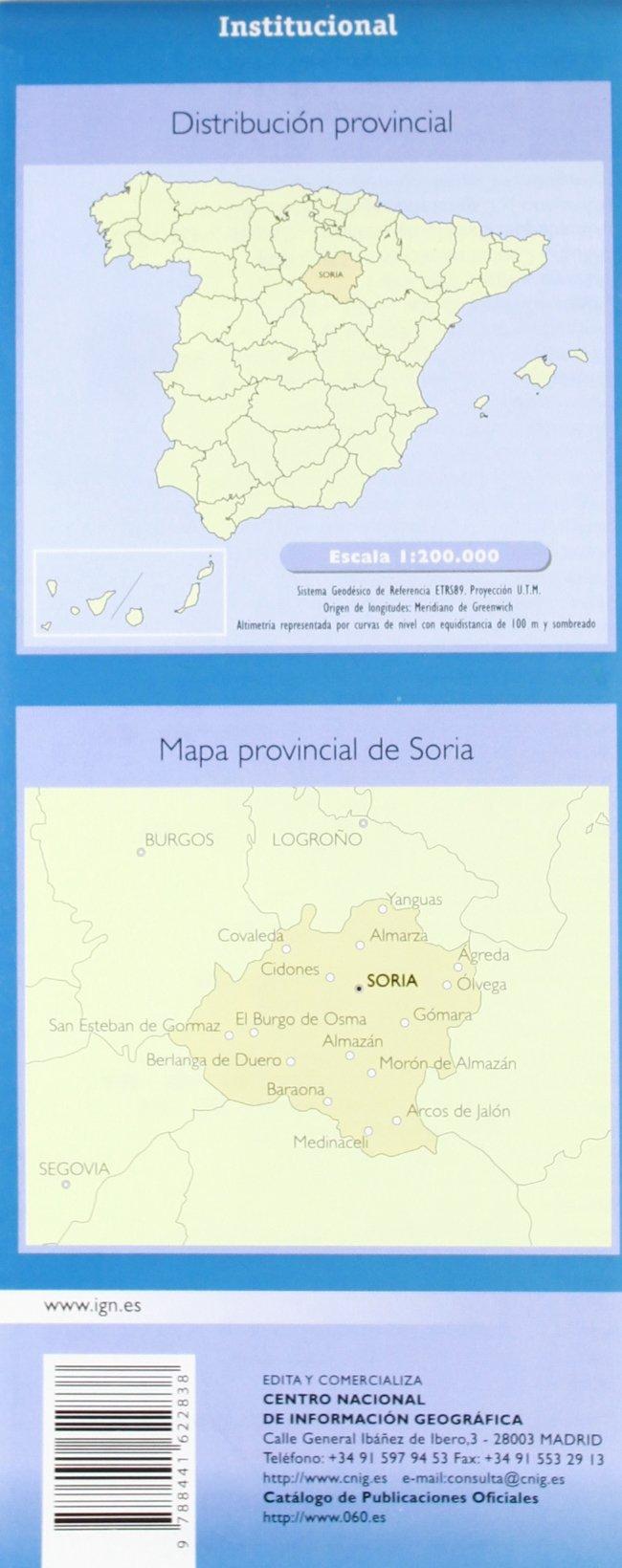 Mapa provincial de Soria 1:200000: Amazon.es: Aa.Vv.: Libros