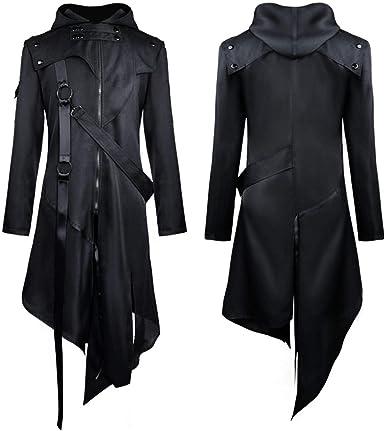 Banned Men/'s Steampunk Tailcoat Jacket Black Gothic Victorian Coat VTG