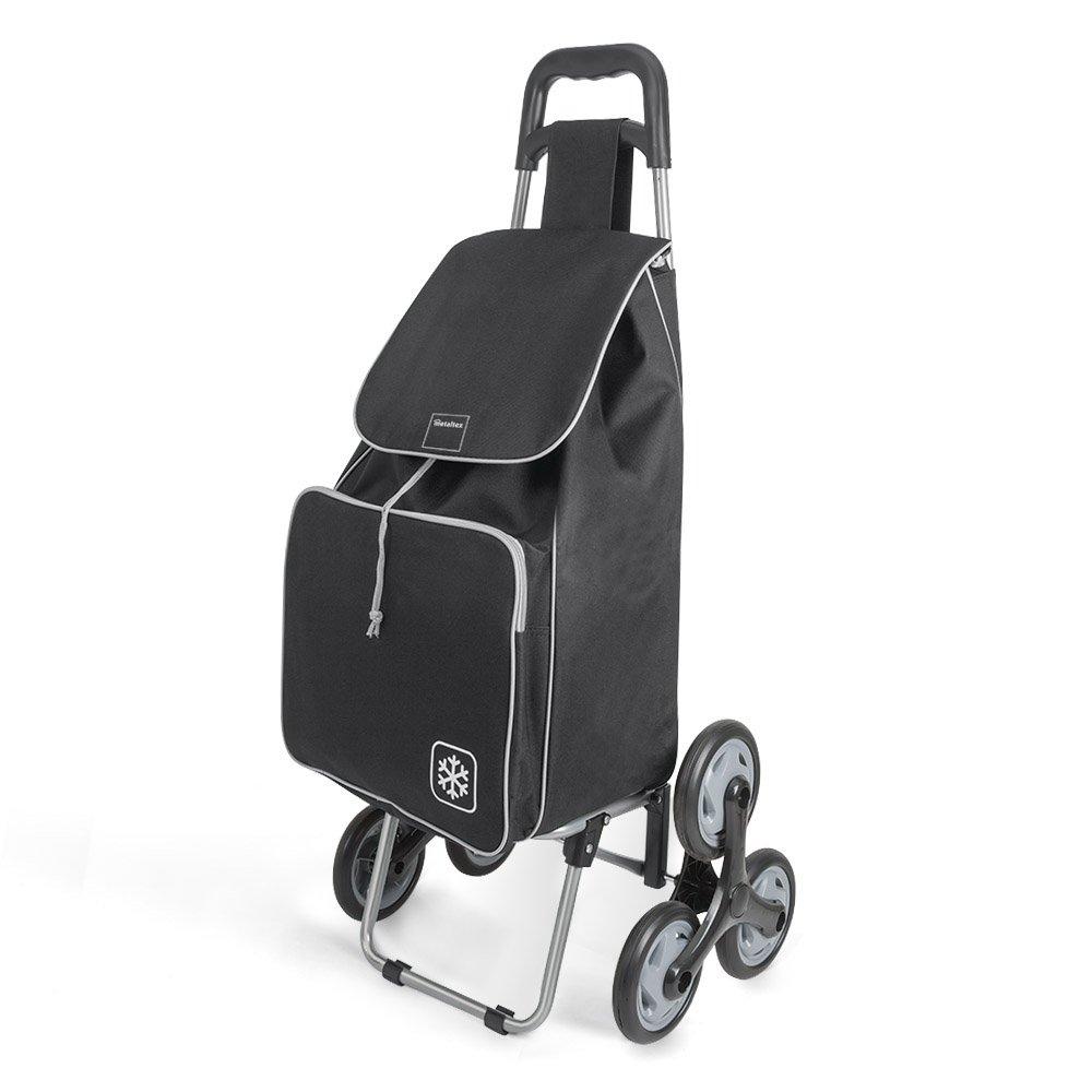 Metaltex Peony Chariot de courses avec 6/roues Metal 120/x 60/x 6/cm 120x60x6 cm rouge