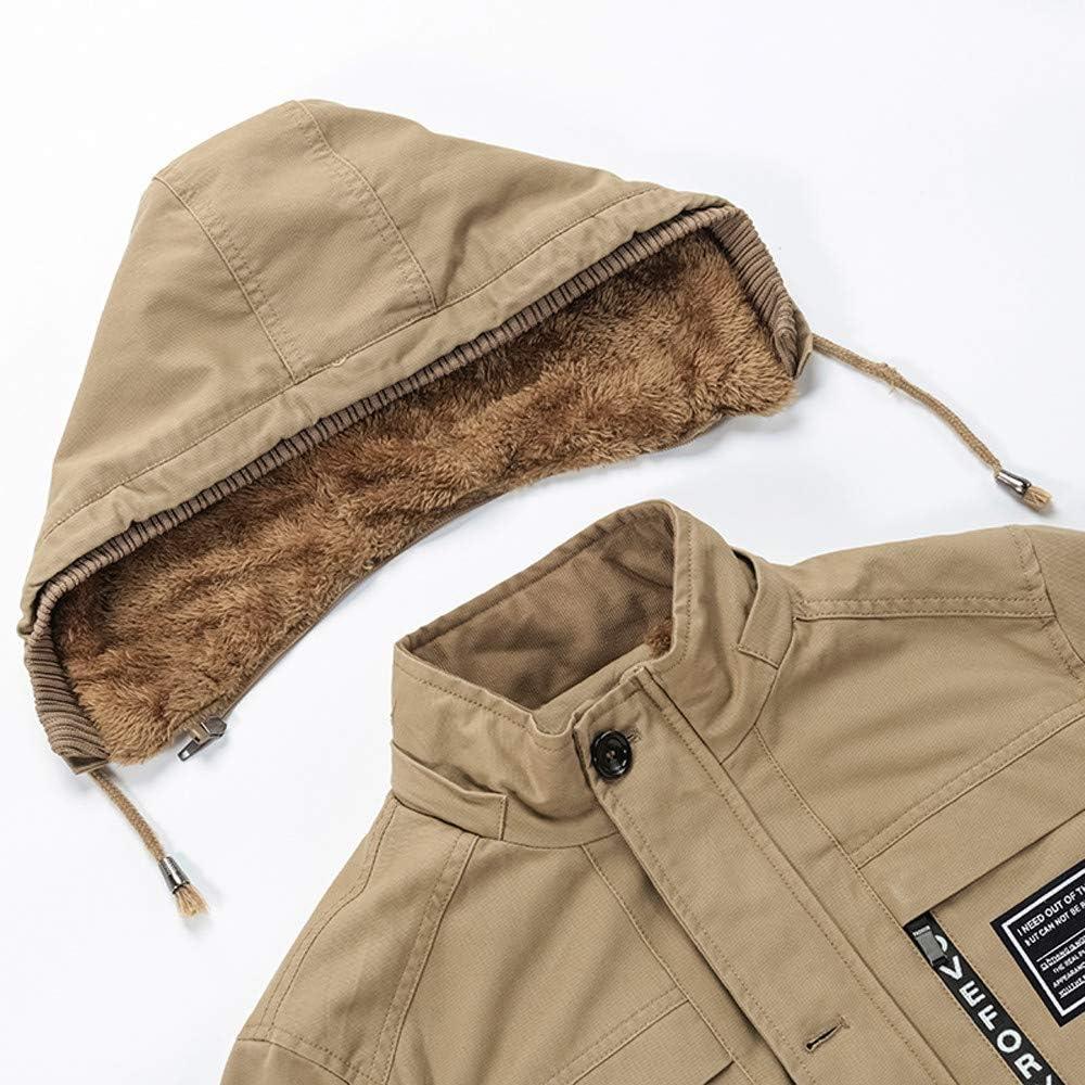 Pandaie-Mens Product Hoodies for Men Zip Up Lightweight Thickened Plus Size Cotton Windbreaker Coat