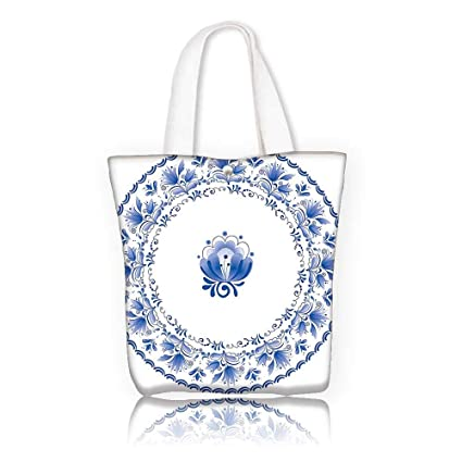 1b5020465ef Canvas Tote Bag —W11 x H11 x D3 INCH work school Shoulder Bag Mandala