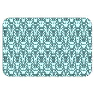 VROSELV Custom Puerta matabstract Rizado Bold Agua Pesca Tema Verano Vacaciones Playa Seashore natación Cielo Azul Blanco