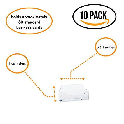 Amazon source one 10 pack premium clear business card holders source one 10 pack premium clear business card holders stands colourmoves