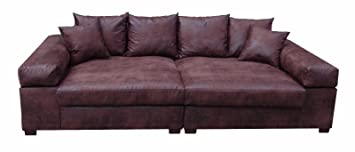Megasofa braun  Big Sofa Couch Garnitur XXL Megasofa Riesensofa Wohnlandschaft ...