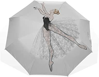 Kid Folding Umbrella Cute Ballerina Dancing 3 Fold Art Umbrellas ...