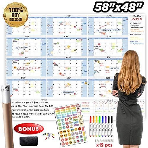 Jumbo Dry Erase Wall Calendar - 48