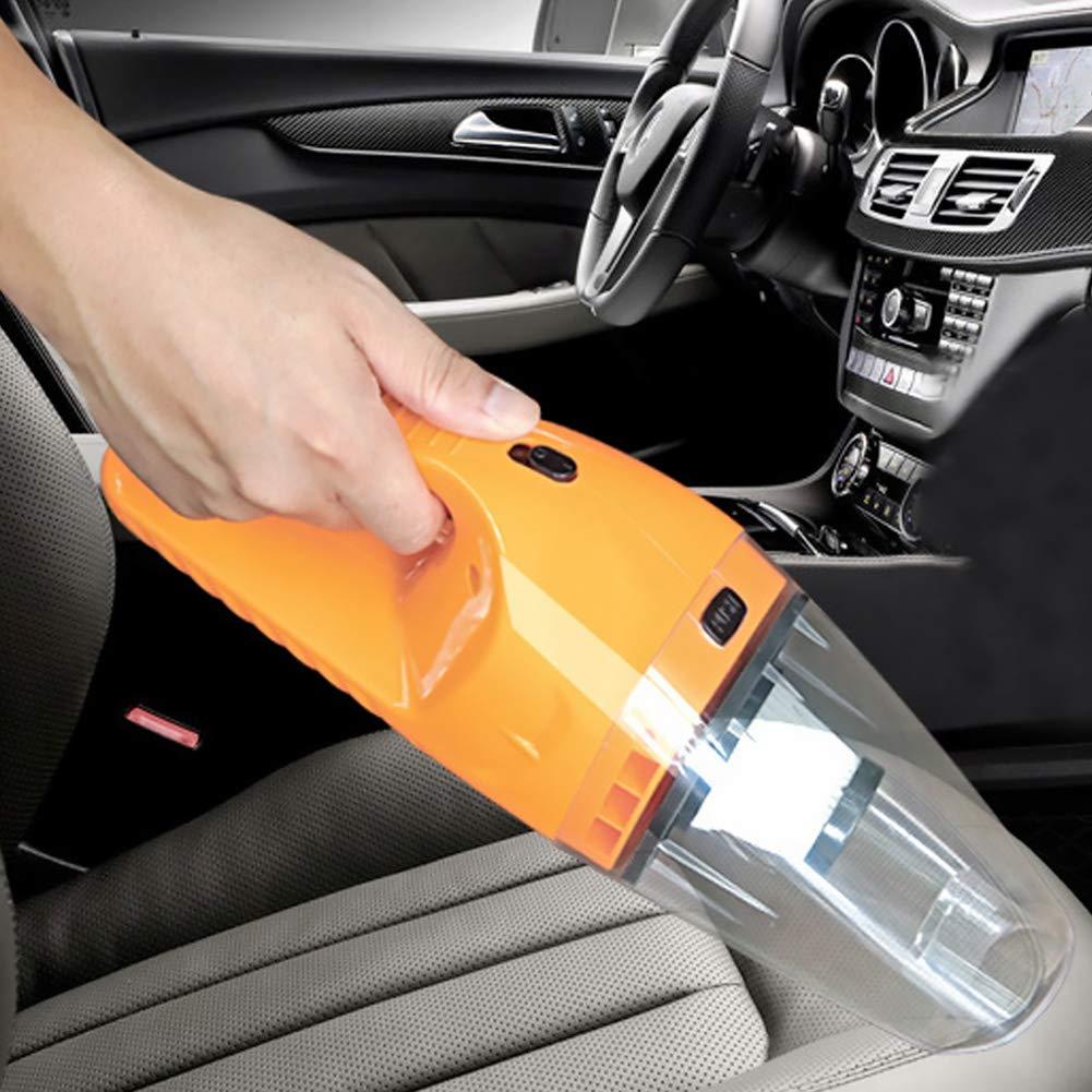 Xiton 1pc Auto-Staubsauger 12V 120W Starke Saugkraft Beide f/ür den Nass-Trocken-Einsatz Tragbarer Hand-Auto-Staubsauger Orange