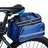 Mr.Ant MTB Waterproof Mid-short Travel Cycling Double Side Carrier Trunk Rear Seat Bag (Blue)