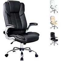 Artiss Executive Office Chair with Padded PU Leather High Back Adjustable Height-Black 5% Discount