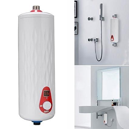 5500W 25A Cocina Baño Mini Calentador Eléctrico Instantáneo Calentador de Grifo sin Tanque de Agua Caliente