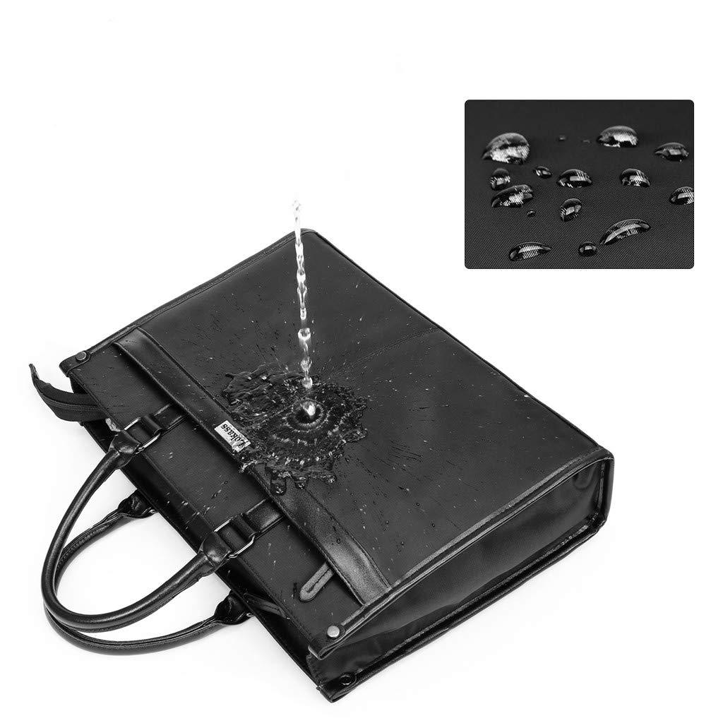 Meoscun Fashion Mens Casual Business Laptop Bag Nylon Waterproof Tote Messenger Bag Handbag 15 Inch