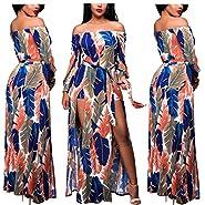 lexiart Romper Split Maxi Dress High Elasticity Floral Print Short Jumpsuit Overlay Skirt for Summmer Party Beach S-5X ?- ¡