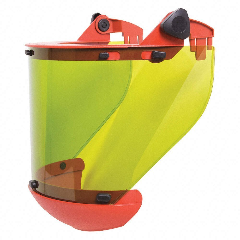 Arc Flash Faceshield, Green, 14'' W, 8'' H