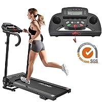 Merax Laufband Elektrisches Klappbar Fitnessgerät Heimtrainer verstaubar kompakt mit LCD-Display Tablethalterung