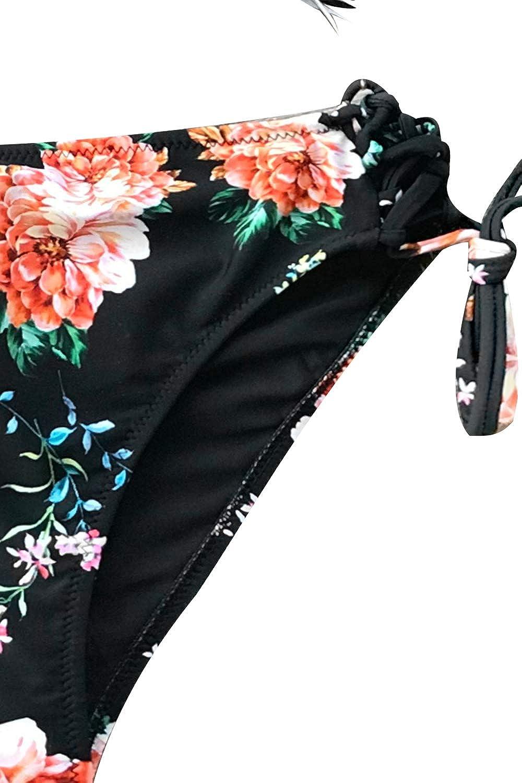 CUPSHE Orangenbl/üte Schn/ürung Bikini