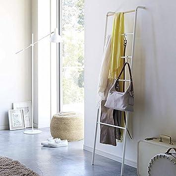 QiangDa Perchero De Escalera Piso Parado Toallero De Hierro contra La Pared para Casa, 45 X 160 Cm, 2 Colores Opcional (Color : Blanco): Amazon.es: Hogar