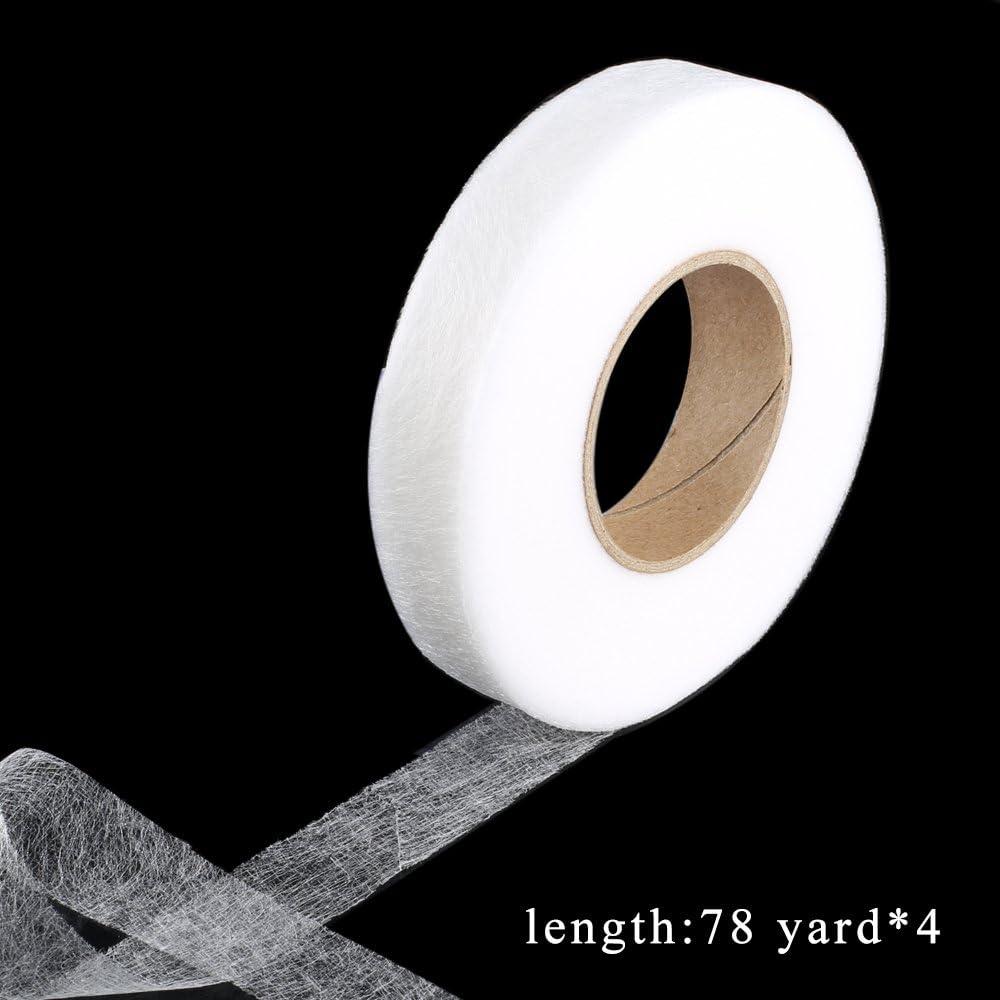 FOGAWA 4 Rollen Saumband zum Aufb/ügeln B/ügelband 256 M Nahtband 10mm 15 mm Formband N/ähen f/ür Textilien Gardinen Vorhang Rock Hosen Weiss