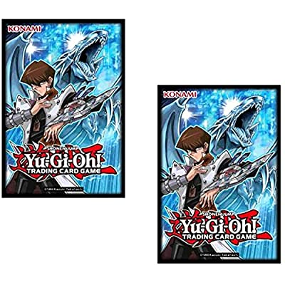 YuGiOh Kaiba Card Sleeves [50 Count]: Toys & Games