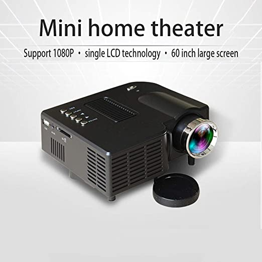 HKYMBM Mini Proyector Portátil, Pico Hogar Proyector HD 1080P ...