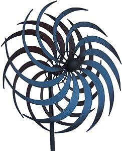 TG,LLC Treasure Gurus Double Pinwheel Kinetic Lawn Garden Wind Spinner Metal Outdoor Yard Decor