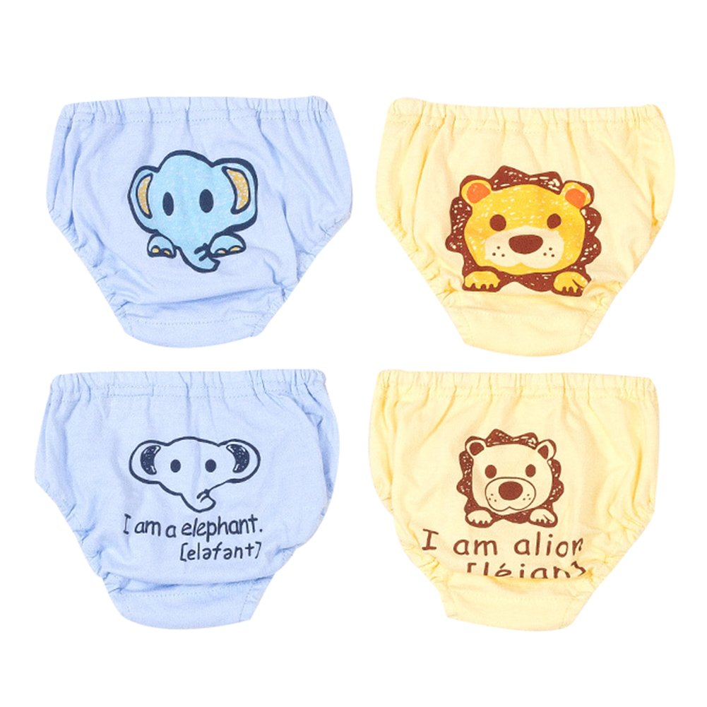 4 Pack Baby Unterwäsche Unterhose Slip Niedlich Cartoon Baumwolle Unterwäsche Shorts für Kinder Jungen Mädchen