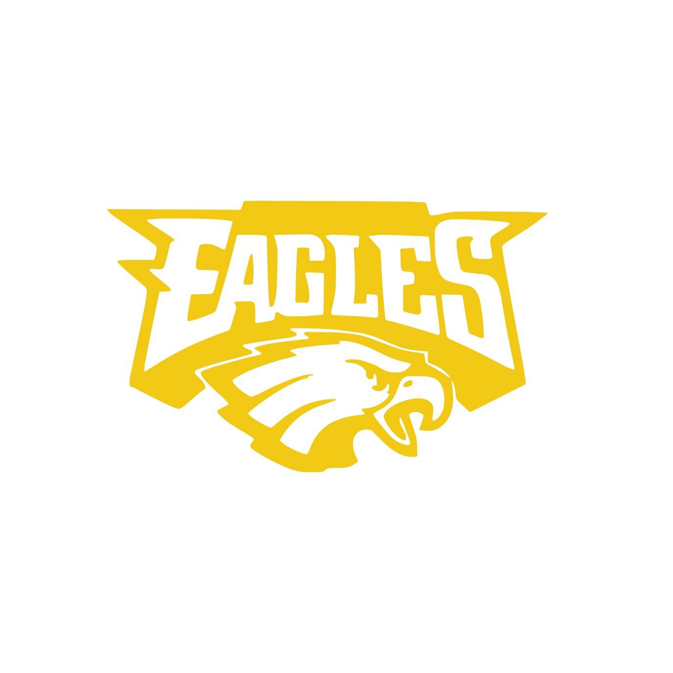 Amazon.com: NFL Philadelphia Eagles (BLACK) (set of 2) - silhouette ...
