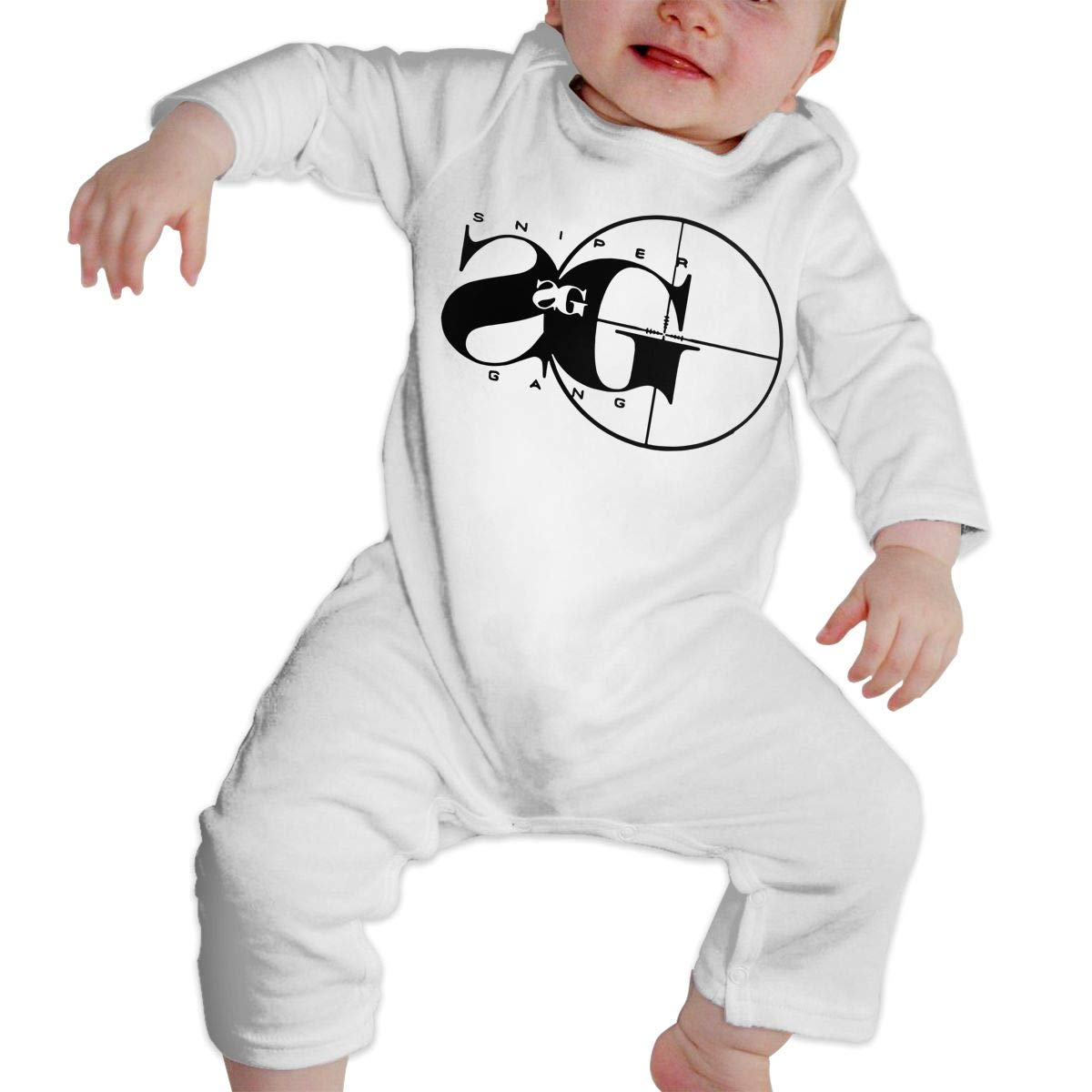 Sniper Gang Rap Music Unisex Long Sleeve Baby Gown Baby Bodysuit Unionsuit Footed Pajamas Romper Jumpsuit