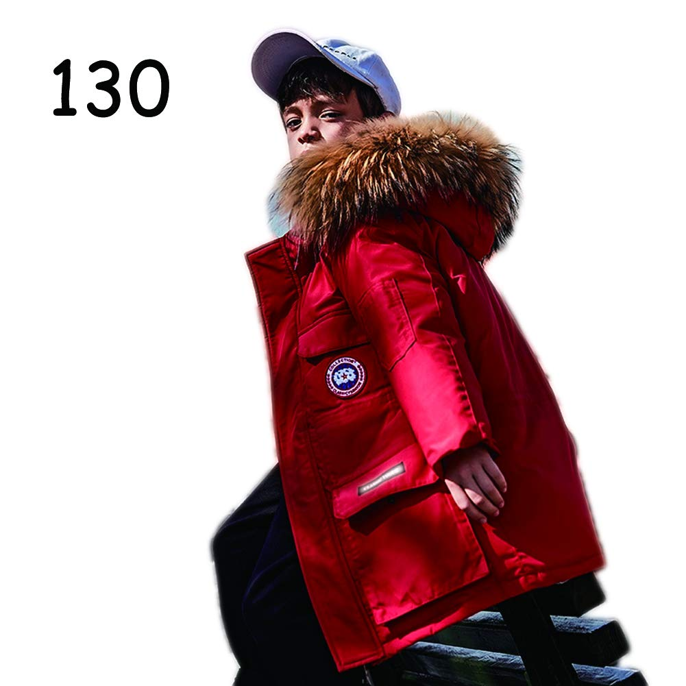 Boys and Adolescents in The Long Section of The Korean Version of The Casual Jacket Optional Color,Black,120 2019 New Thickening Childrens Down Jacket