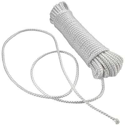 Katzco Nylon Rope Twisted Solid Braided 1 Roll of 1/8 Inch x 50 Foot Rope - for Camping, Sports and Outdoors, Construction, Moving, Furniture, Towing, Wheel and Axles, Boat Docks, and Fishing: Home Improvement