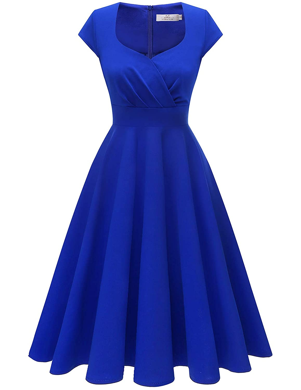 TALLA M. HomRain 50s Vestidos Vintage Retro Rockabilly Clásico Vestido Vendimia para Mujer