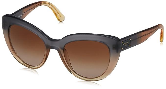 Dolce   Gabbana 0DG4287 307413 53, Montures de Lunettes Femme, Jaune (Grad  Brown Beige Caramel Yellow Browngradient)  Amazon.fr  Vêtements et  accessoires 2ee8a1e903f9