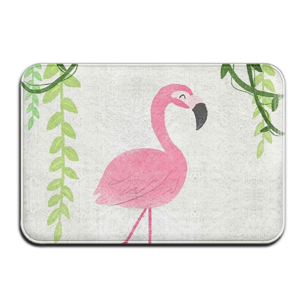 BINGO BAG Flamingo In The Lake Indoor Outdoor Entrance Printed Rug Floor Mats Shoe Scraper Doormat For Bathroom, Kitchen, Balcony, Etc 16 X 24 Inch