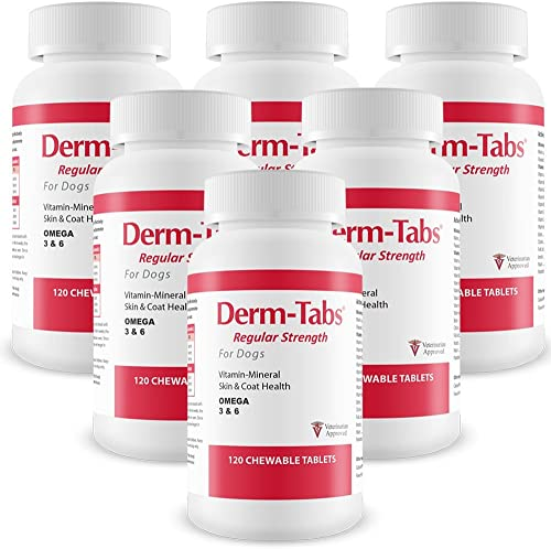 6PACK DermTabs Regular Strength for Dogs 720 Chewable Tablets