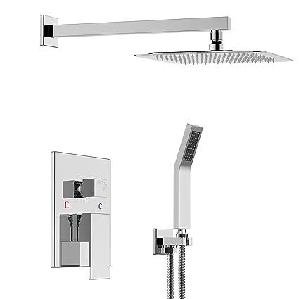 SR SUN RISE SRSH F5043 Bathroom Luxury Rain Mixer Combo Set Wall Mounted Rainfall  Shower