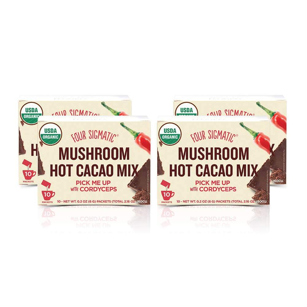 Four Sigmatic Organic Mushroom Hot Cacao with Cordyceps 4-Pack (40 Count)
