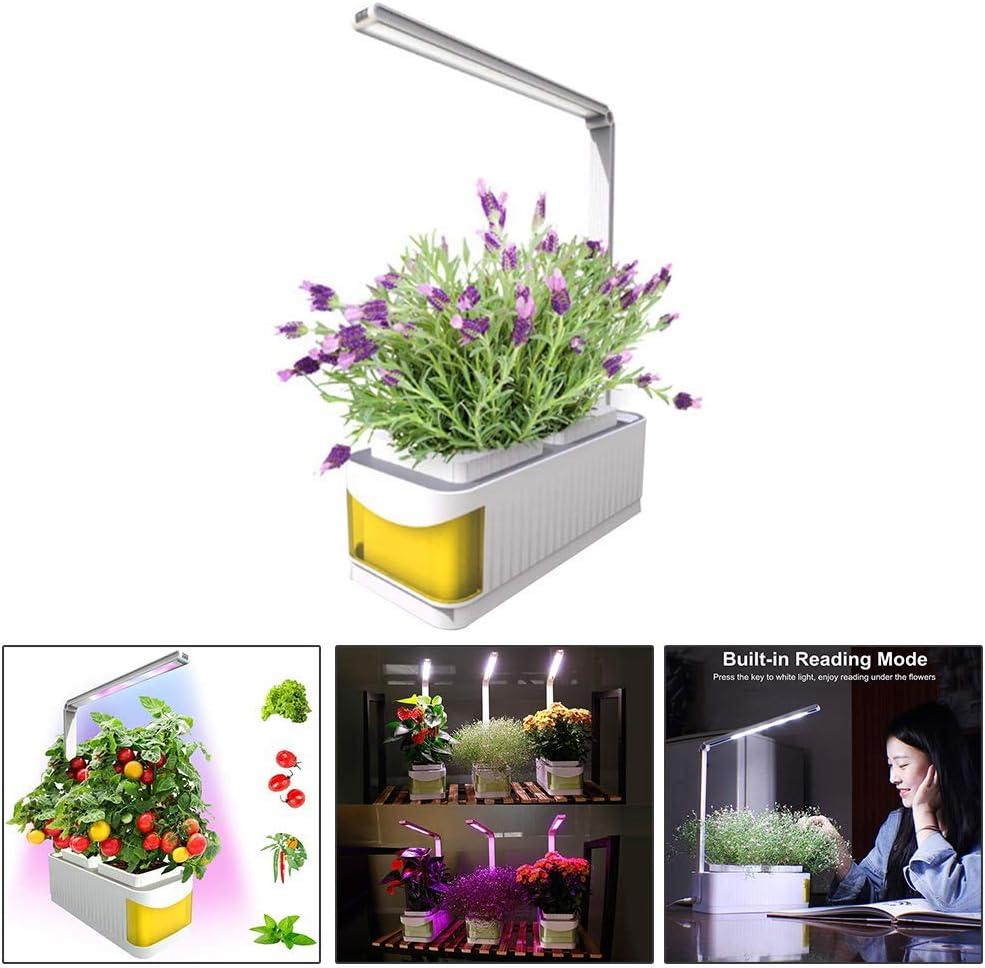 Smart Herb Garden Kit de Jardinería de Interior Sistema de Cultivo de Riego Hidropónico Conjunto de Jardinería de Hierbas Orgánicas para el Hogar con luz de Crecimiento LED