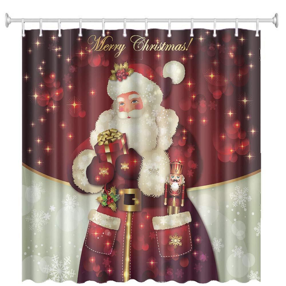 Weihnachts-Duschvorhang, Frohe Weihnachten Dreamlike Santa Claus ...