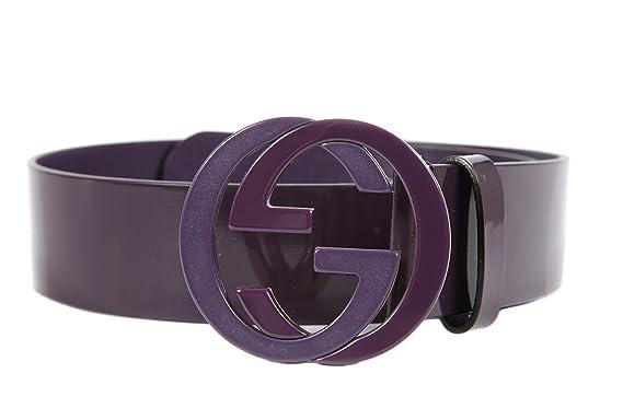 502ae7dab75 Gucci ceinture femme en cuir violet EU 75 223931 212956  Amazon.fr   Vêtements et accessoires