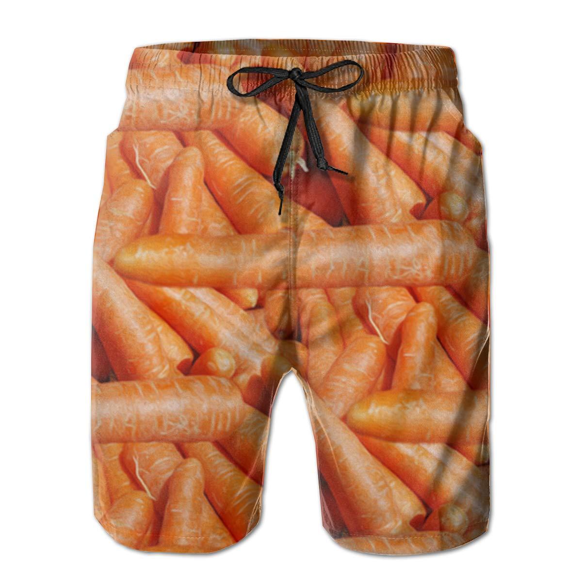 EYFlife Carrots Painting Men/â/€s Beach Board Shorts Quick Dry Swim Truck Shorts
