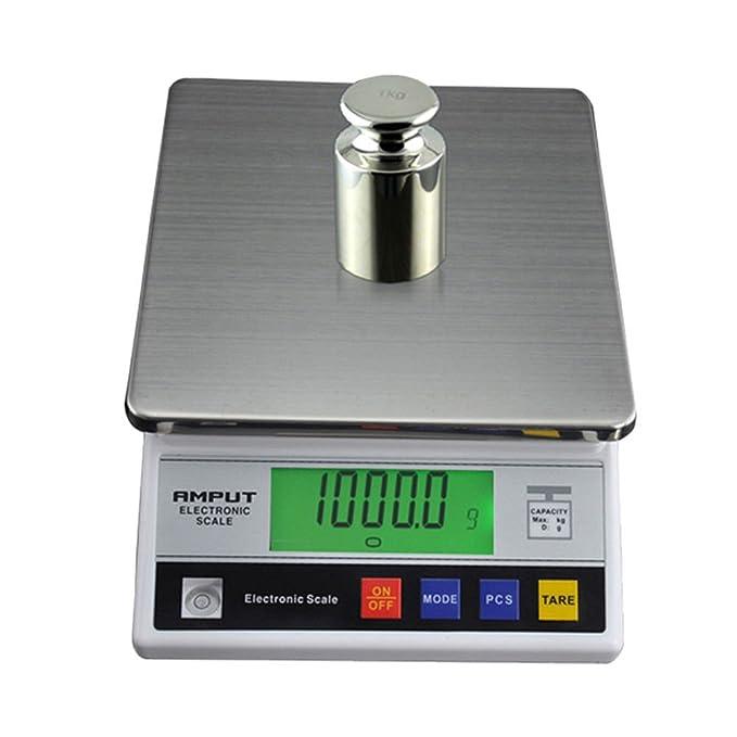 Balanza de precisión Industrial Digital Báscula Balanza de laboratorio 7500 g/0,1 g LCD Balance Envío desde Alemania: Amazon.es: Oficina y papelería