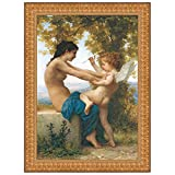 Design Toscano Young Girl Defending Herself Against Eros, 1880, Canvas Replica Pain...